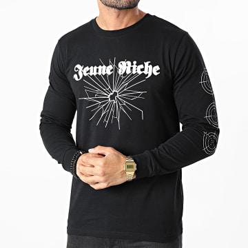 Jeune Riche - Tee Shirt Manches Longues Next Time Noir