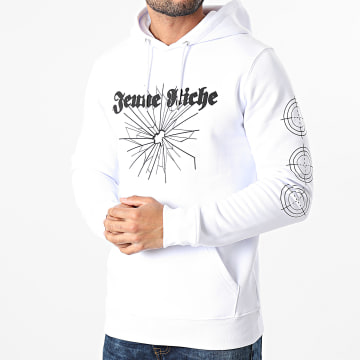 Jeune Riche - Sweat Capuche Next Time Blanc