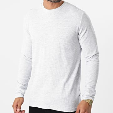 Solid - Tee Shirt Manches Longues 21104515 Gris Chiné