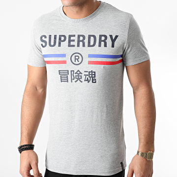 Superdry - Tee Shirt Vintage Sport M1010581A Gris Chiné