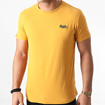 Superdry - Tee Shirt OL Vintage Embroidery M1000020A Jaune Moutarde