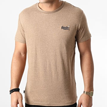 Superdry - Tee Shirt OL Vintage Embroidery M1000020A Marron Chiné
