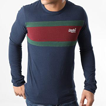 Superdry - Tee Shirt Manches Longues OL Engineered M6010183A Bleu Marine