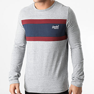 Superdry - Tee Shirt Manches Longues OL Engineered M6010183A Gris Chiné