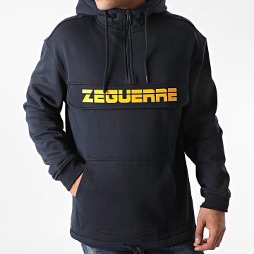 Zeguerre - Sweat Outdoor Col Zippé Zeguerre Bleu Marine
