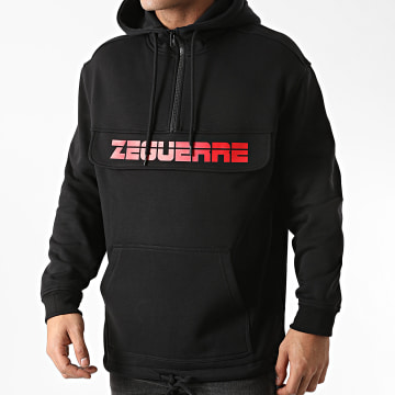 Zeguerre - Sweat Outdoor Col Zippé Zeguerre Noir