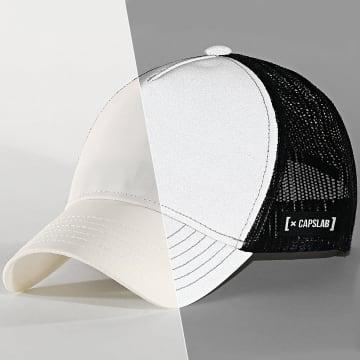 Capslab - Casquette Trucker Réfléchissant Blanc Noir