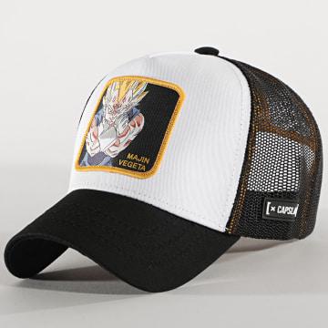 Capslab - Casquette Trucker Majin Vegeta Noir Blanc