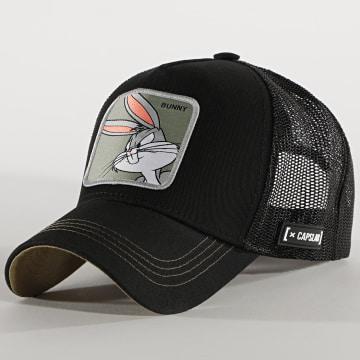 Capslab - Casquette Trucker Bunny Noir Vert Kaki