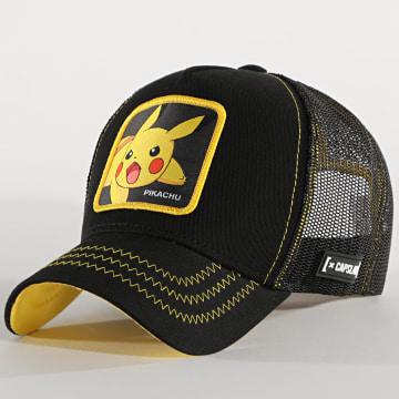 Capslab - Casquette Trucker Pikachu Noir Jaune