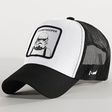 Capslab - Casquette Trucker Stormtrooper Noir Blanc