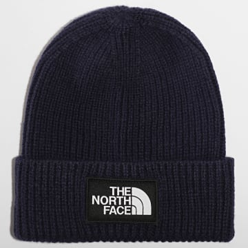 The North Face - Bonnet Logo Box Cuff Bleu Marine
