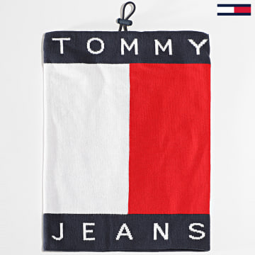Tommy Jeans - Echarpe Tube Flag 1170 Bleu Marine Blanc Rouge