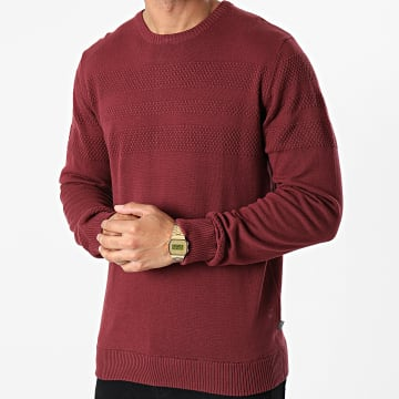 Solid - Pull 21104495 Bordeaux