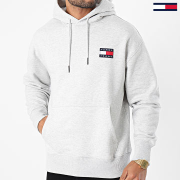 Tommy Jeans - Sweat Capuche Tommy Badge 6593 Gris Chiné