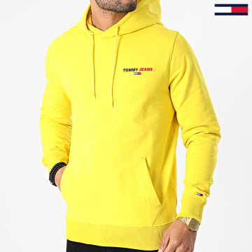 Tommy Jeans - Sweat Capuche Tommy Chest Graphic 8730 Jaune