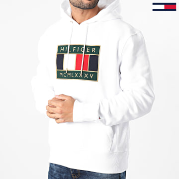 Tommy Hilfiger - Sweat Capuche Icon Badge 5245 Blanc