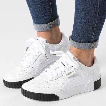Puma - Baskets Femme Cali 369155 White Black