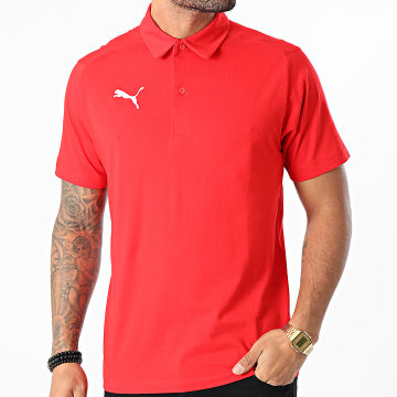 Puma - Polo Manches Courtes Liga Casuals 655310 Rouge