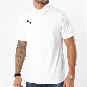 Puma - Polo Manches Courtes Liga Casuals 655310 Blanc