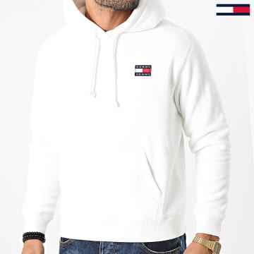 Tommy Jeans - Sweat Capuche Polaire Badge 8978 Blanc