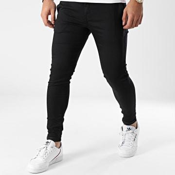 GRJ Denim - Pantalon Chino Slim ADJ2030 Noir