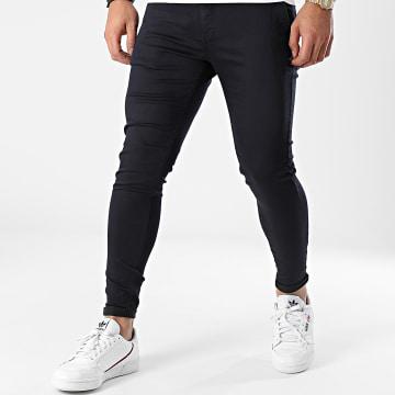 GRJ Denim - Pantalon Chino Slim ADJ2030 Bleu Marine