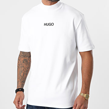 HUGO - Tee Shirt Col Cheminée Dakayo 211 50458273 Blanc