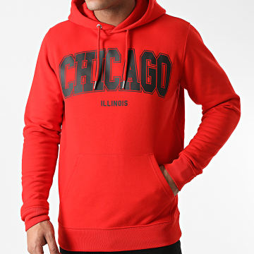 Luxury Lovers - Sweat Capuche Chicago Rouge