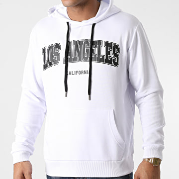 Luxury Lovers - Sweat Capuche Los Angeles Blanc