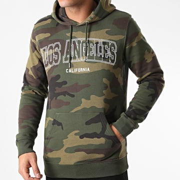 Luxury Lovers - Sweat Capuche Los Angeles Camo Vert Kaki