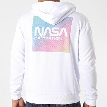 NASA - Sweat Capuche Gradient Block Back Blanc