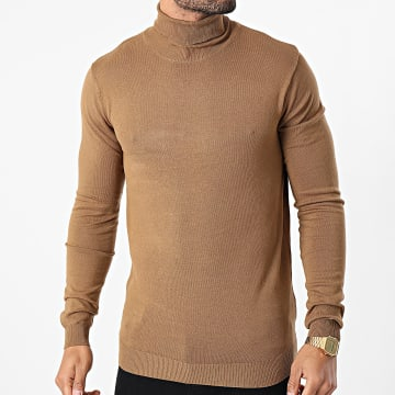Paname Brothers - Pull Col Roulé PB03 Camel