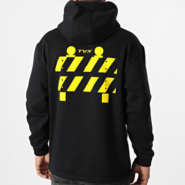 13 Block - Sweat Outdoor Col Zippé TVX Noir Jaune