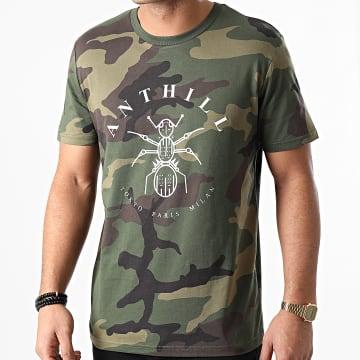 Anthill - Tee Shirt Logo Camo Vert Kaki