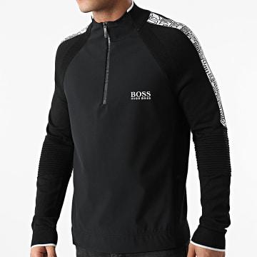 BOSS - Sweat Col Zippé Zalogo 50440727 Noir