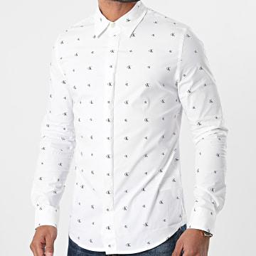 Calvin Klein - Chemise Manches Longues Seasonal Pattern 6643 Blanc
