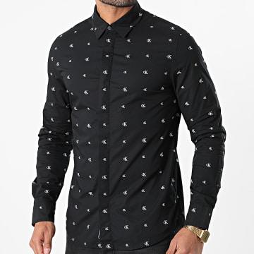 Calvin Klein - Chemise Manches Longues Seasonal Pattern 6643 Noir