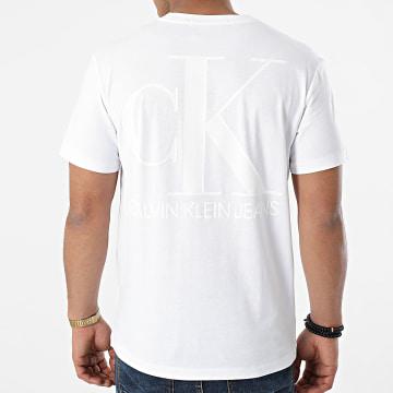 Calvin Klein - Tee Shirt Matte And Flock Monogram 7064 Blanc