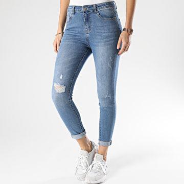 Girls Outfit - Jean Skinny Femme CS093 Bleu Denim