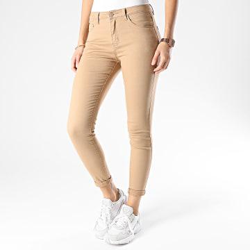 Girls Outfit - Jean Skinny Femme P109 Beige