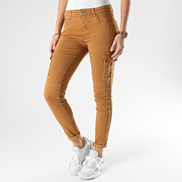 Girls Only - Pantalon Cargo Femme S353 Camel