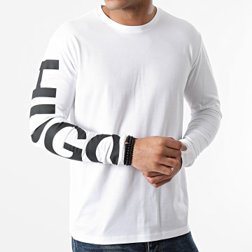 HUGO - Tee Shirt Manches Longues Demeos 211 50458238 Blanc