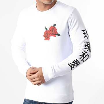 Luxury Lovers - Tee Shirt Manches Longues Oriental Blanc