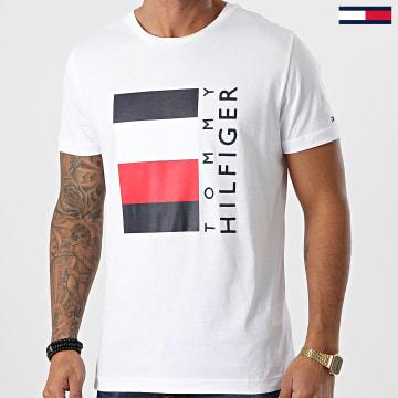 Tommy Hilfiger - Tee Shirt Corp Stripe Box 5323 Blanc