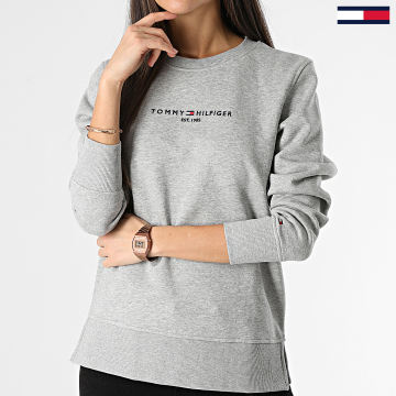 Tommy Hilfiger - Sweat Crewneck Femme Essential 8220 Gris Chiné