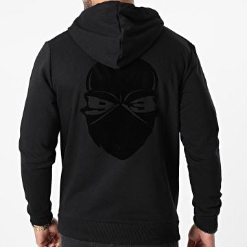Untouchable - Sweat Capuche Velvet Logo Noir