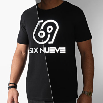 L'Allemand - Tee Shirt Six Nueve Noir Réfléchissant