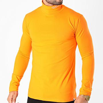 Project X - Tee Shirt Manches Longues Col Roulé 2020071 Orange