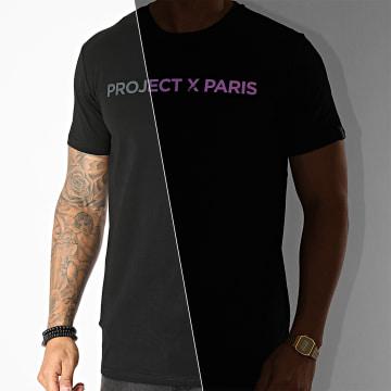 Project X - Tee Shirt 2010137 Noir Réfléchissant Iridescent